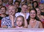 Масляков Сан Саныч с женой Ангелиной и дочкой Таисией на Летнем Кубке КВН 2010